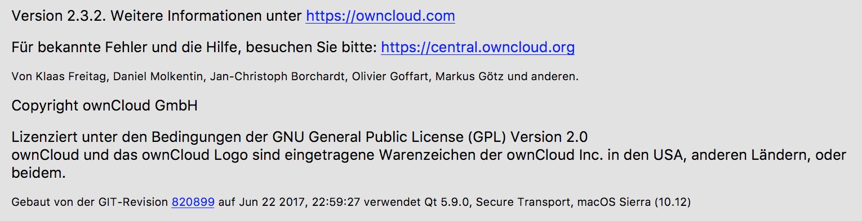 Developers - [Nextcloud 2 2 3 4 Mac OS] Initial connexion