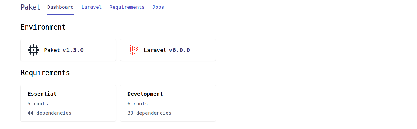 Laravel Paket Dashboard