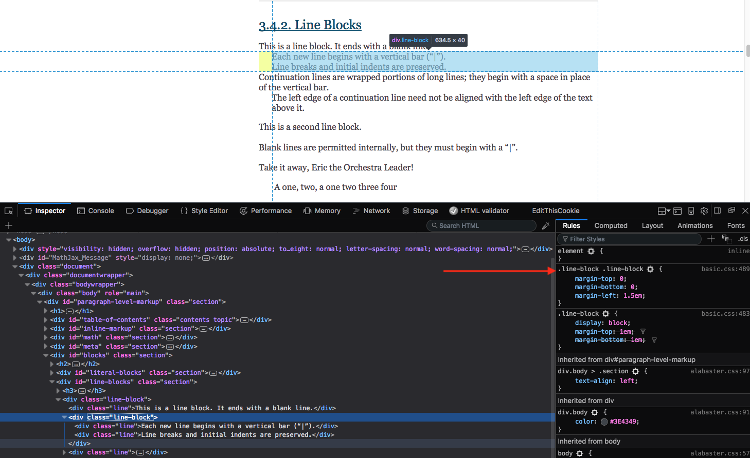Line breaks causing indented text when using the theme · Issue #273