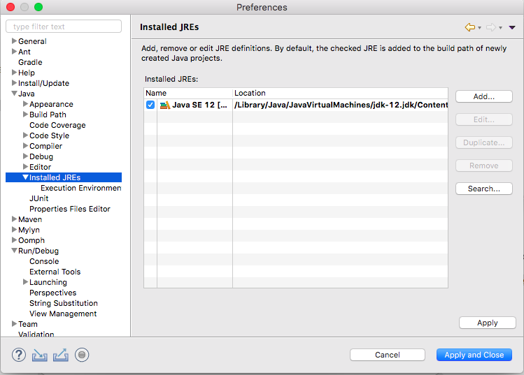 Can't run Java Builder on latest release · Issue #13179