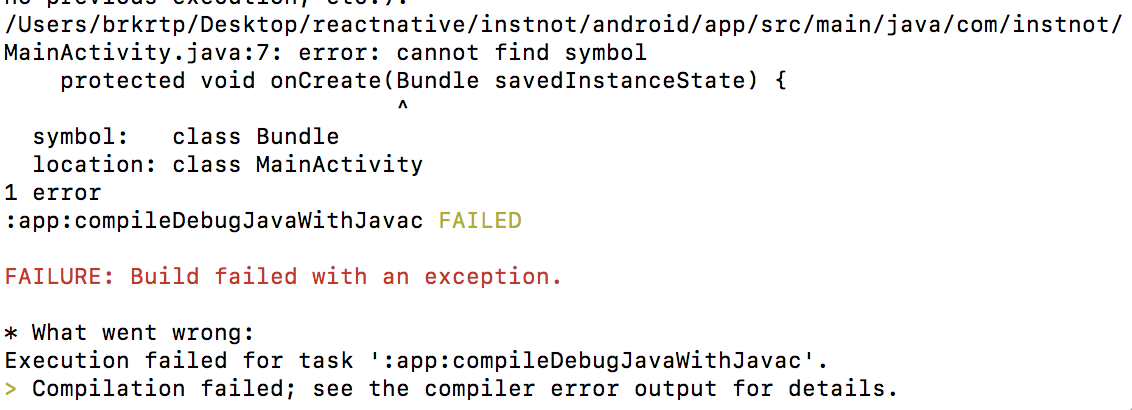 Android Build Error Mainactivityjava7 Error Cannot Find Symbol