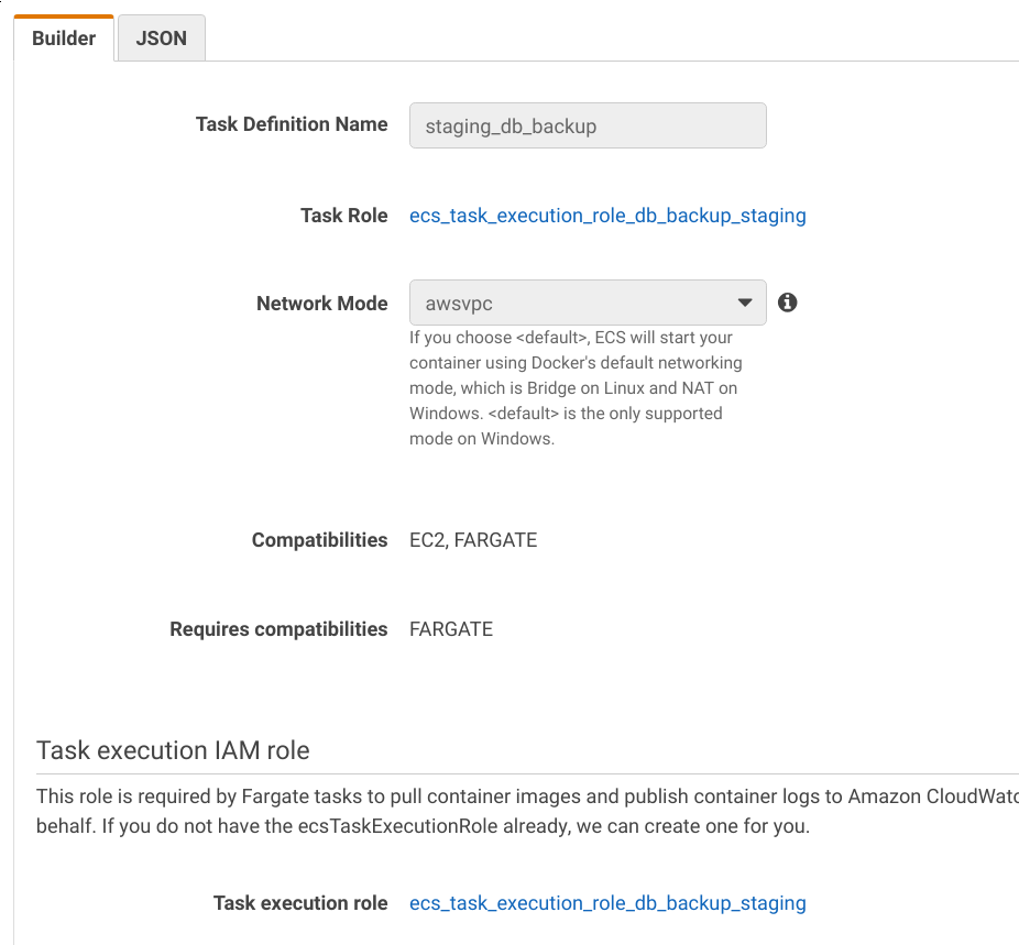Execution role permissions for IAM RDS authentication are
