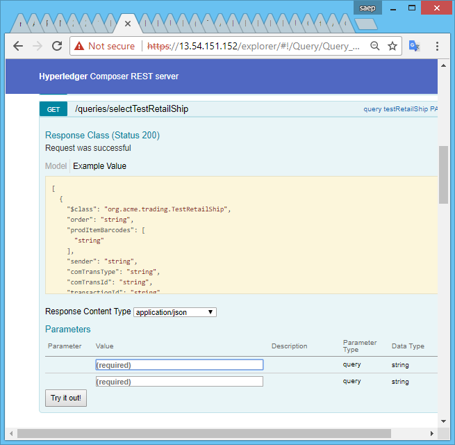 Issue with generated Rest API for CONTAINS query · Issue