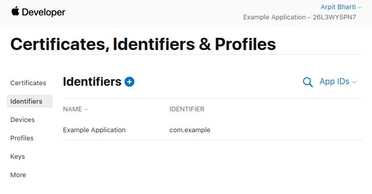 Final App ID list