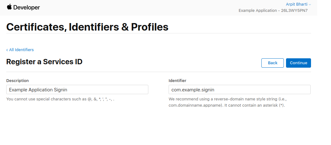 Register a Service ID