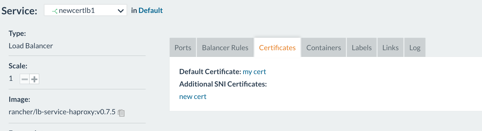 Loadbalancer >= 0 7 1 cannot handle certificate names with