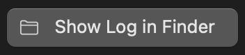 Show Log in Finder