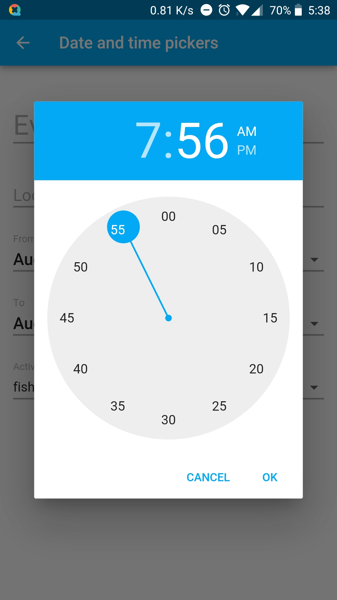 TimePicker can not only set a specific minute! · Issue