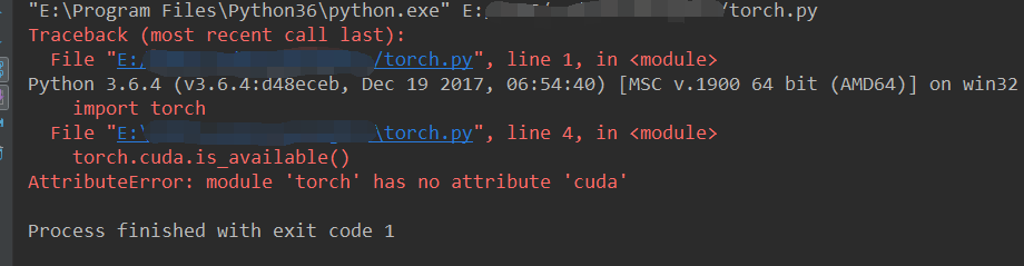 Torch can not run in Pycharm but it work in cmd · Issue