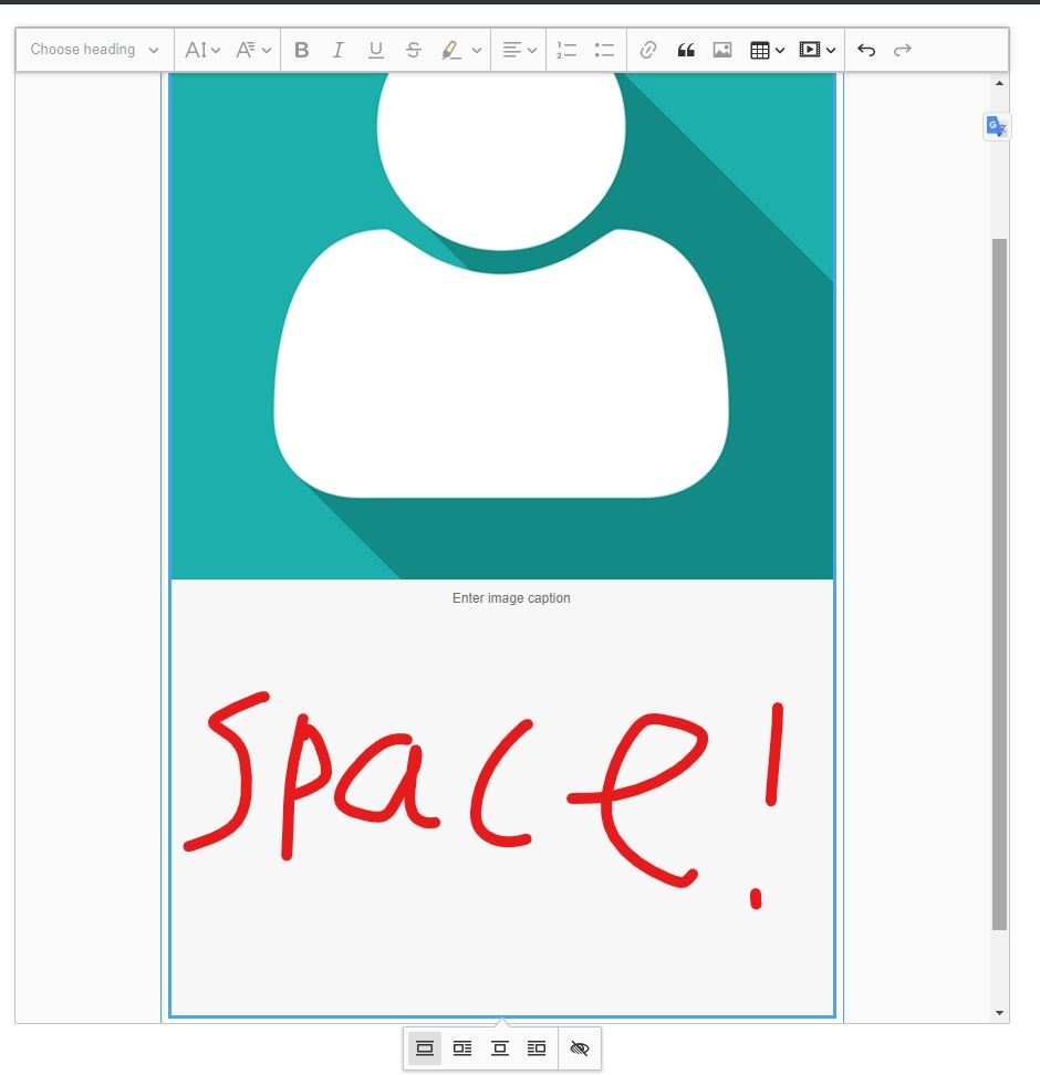 Ckeditor 5 img always full fill the editable space - Stack