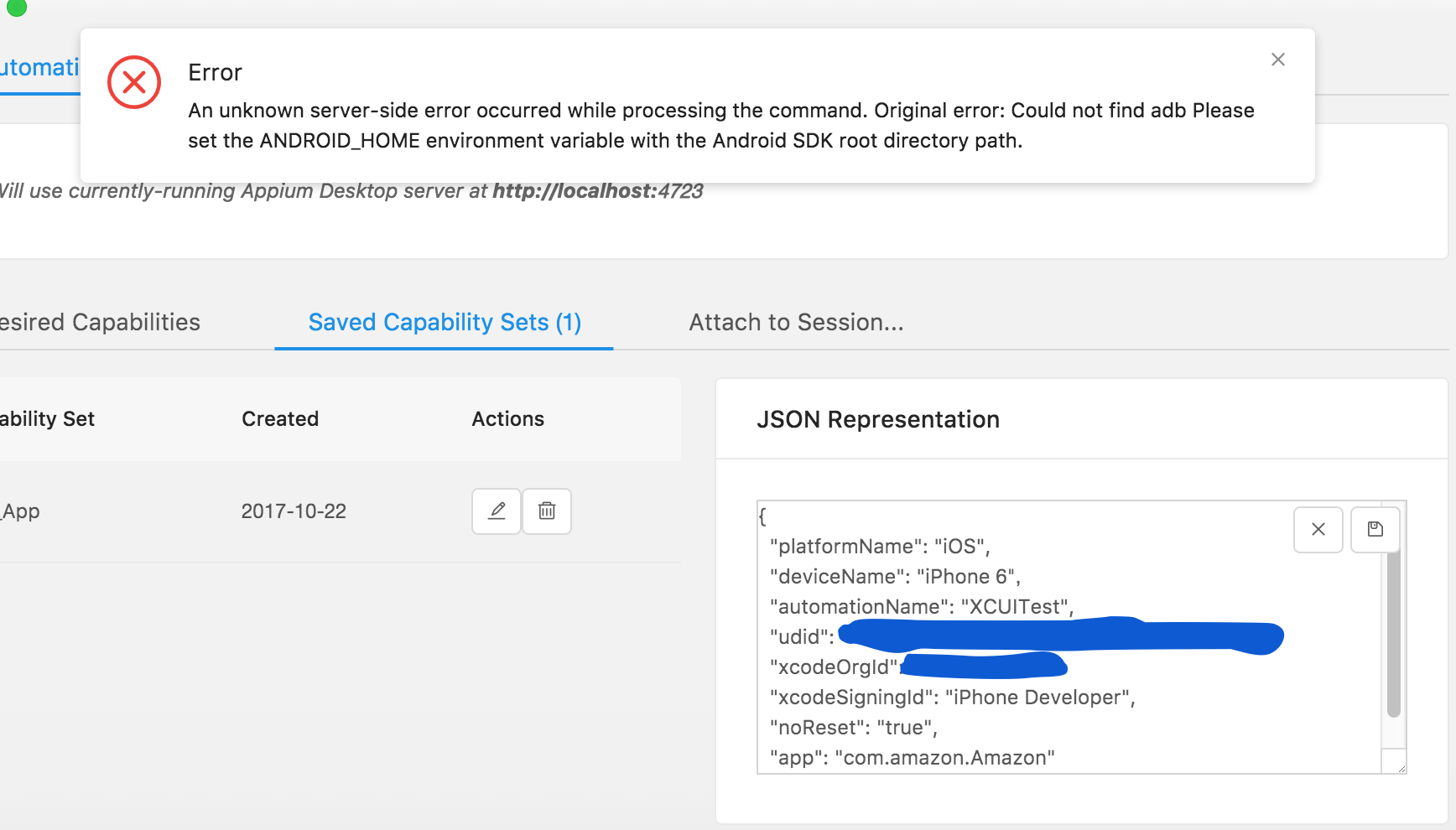 Could not find adb Please set the ANDROID_HOME environment