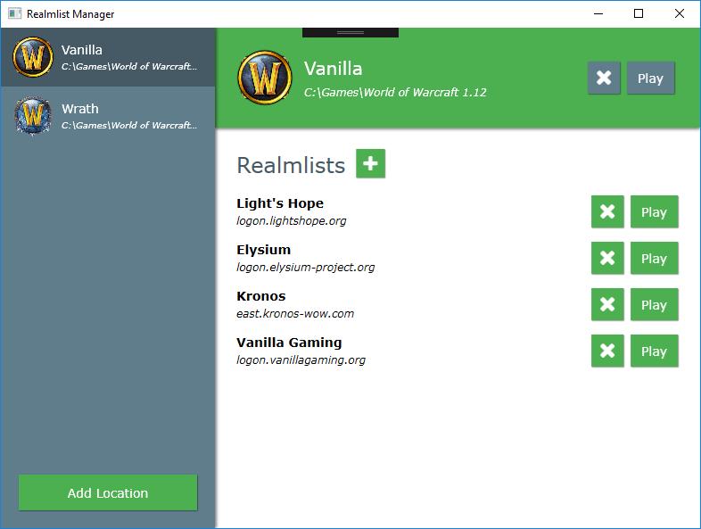 GitHub - EnsignPayton/RealmListManager: Installation Manager for