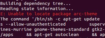 unable to locate package arc-theme · Issue #86 · fcwu/docker-ubuntu