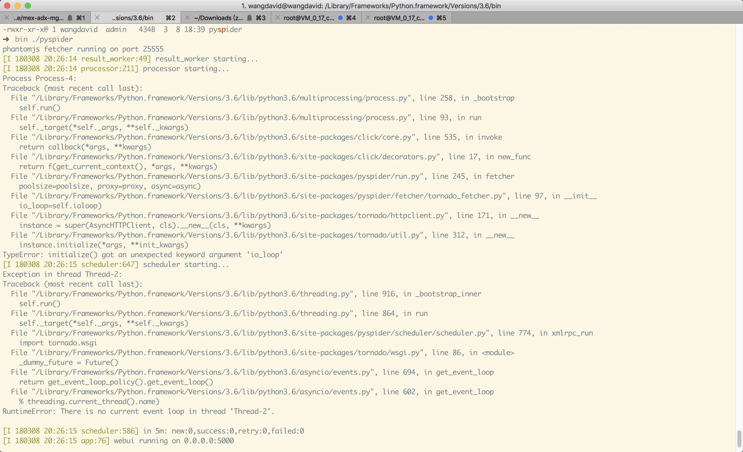 RuntimeError: There is no current event loop in thread