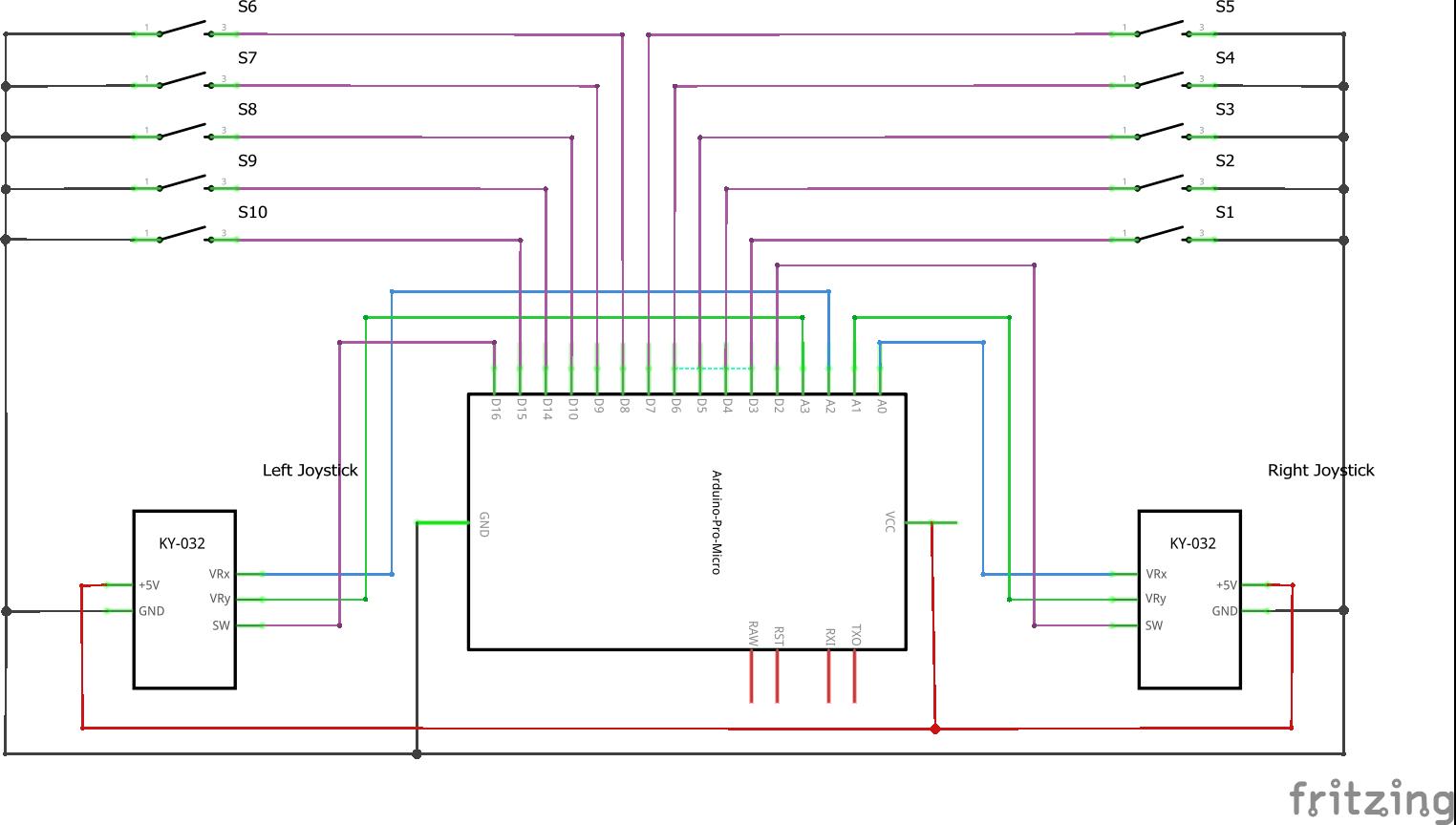 Arduino gamepad_schem