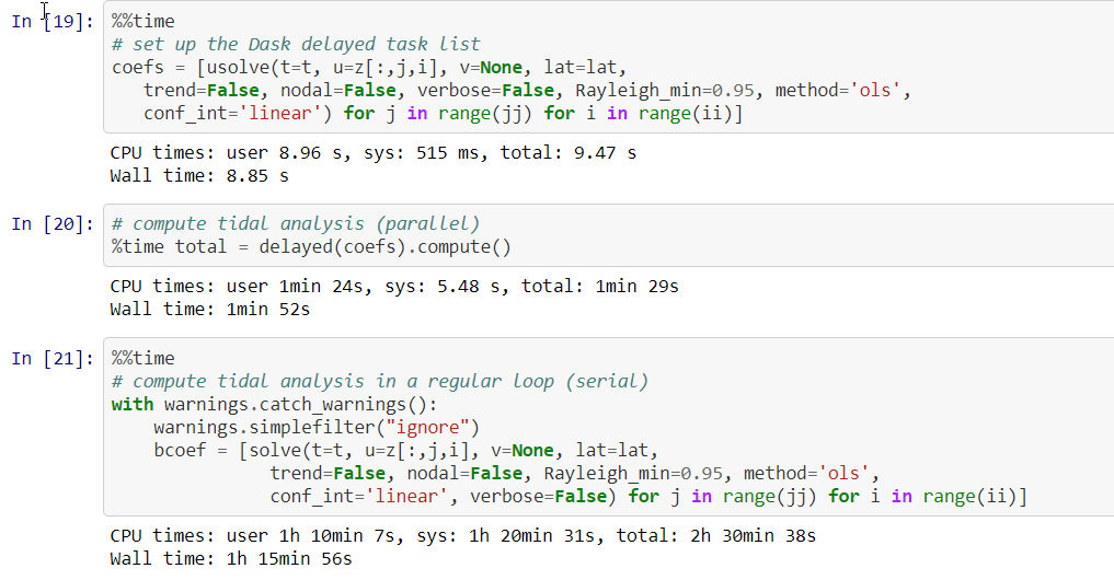 Struggling with dask delayed to parallelize tidal analysis · Issue