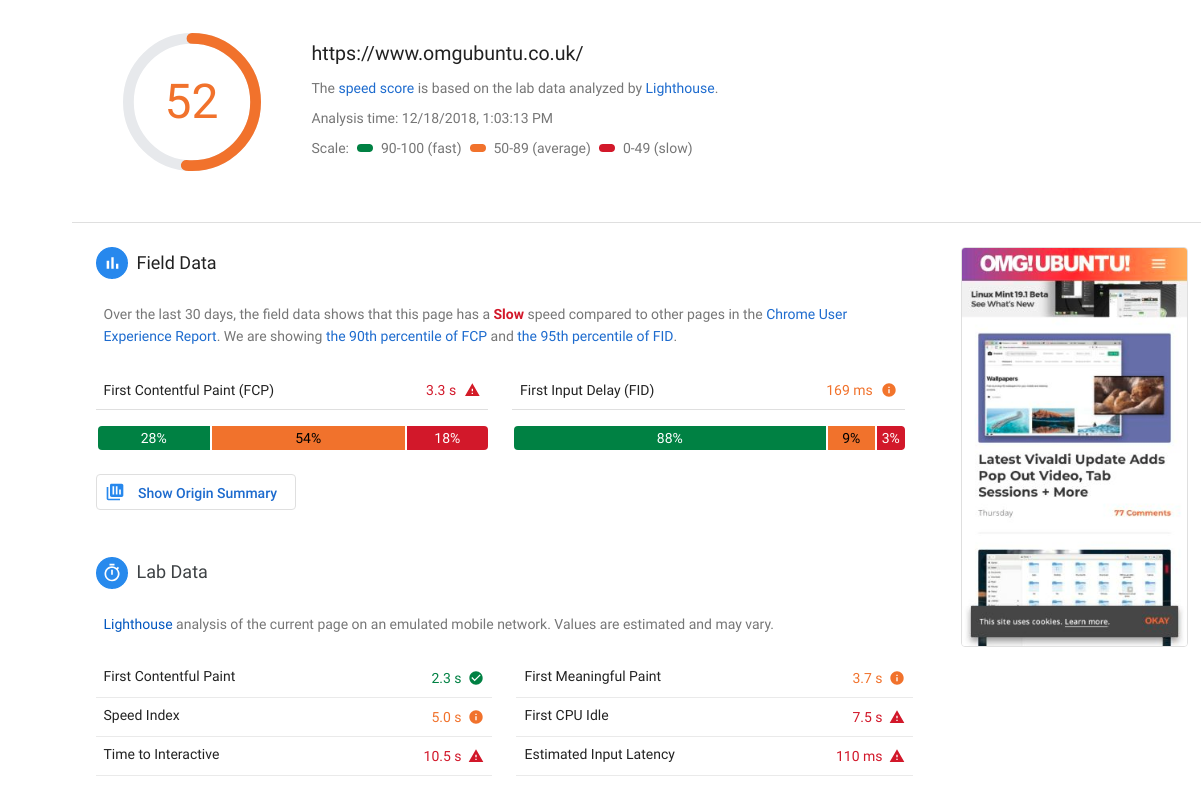 ☔ Pagespeed Insights results differ from lighthouse in