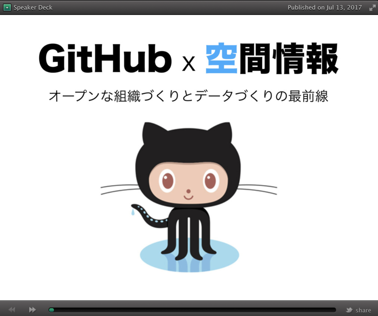 GitHub and Spatial Information