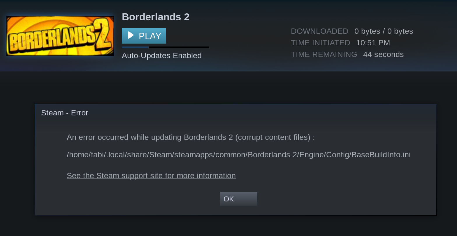 Borderlands 2 proton is not installable · Issue #370 · flathub/com