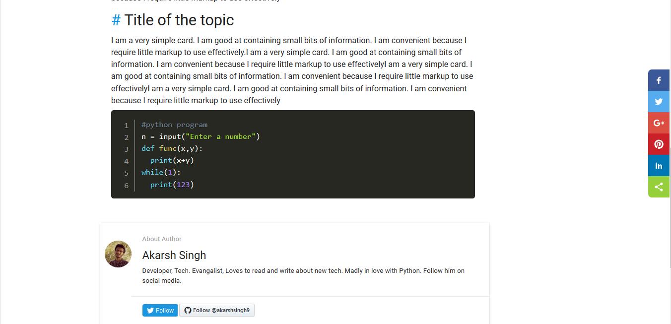 GitHub - akarshsingh9/Materialize-Blog-website