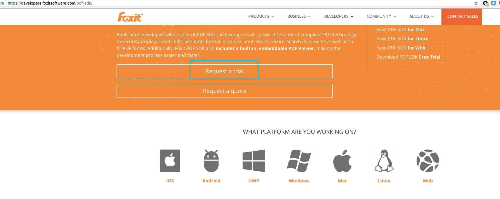 How to request the free trial ? · Issue #2 · foxitsoftware