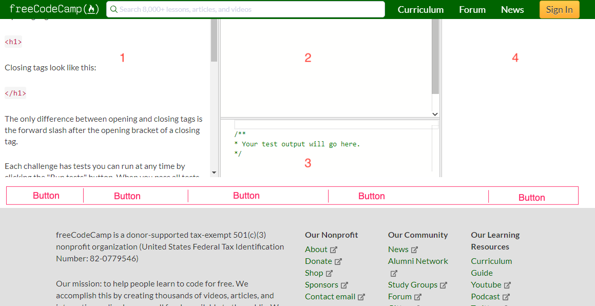 Improvements to Footer · Issue #35102 · freeCodeCamp
