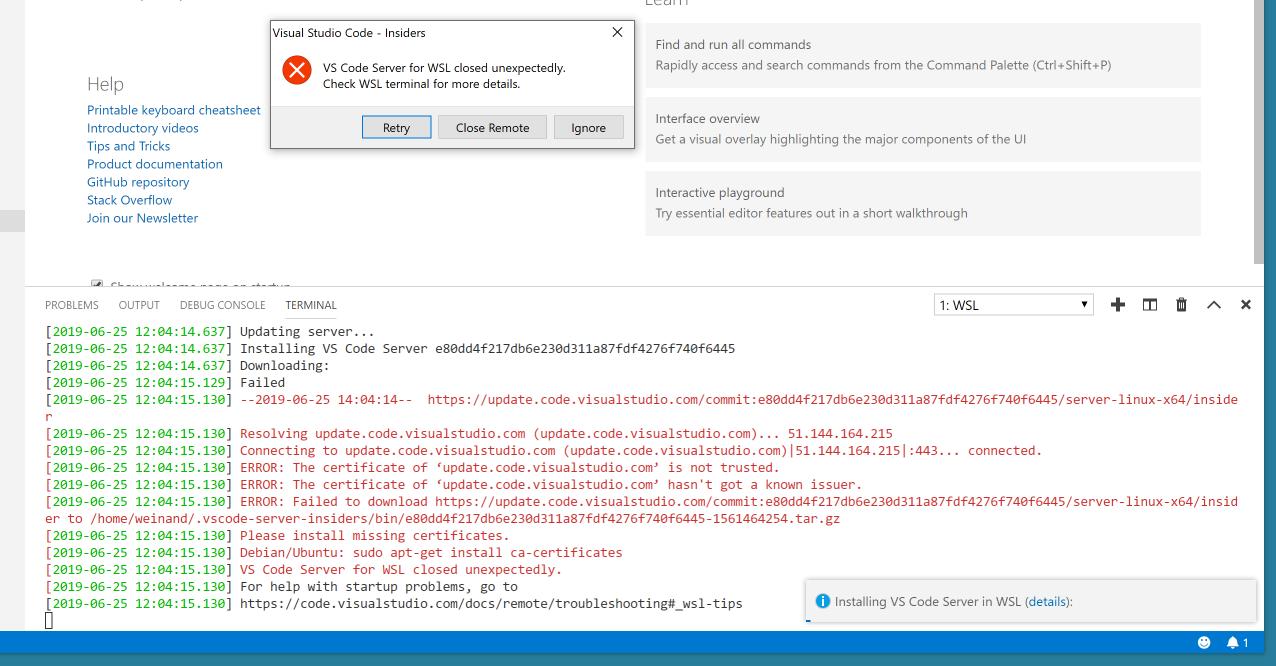 Remote-WSL: Reopen Folder in WSL