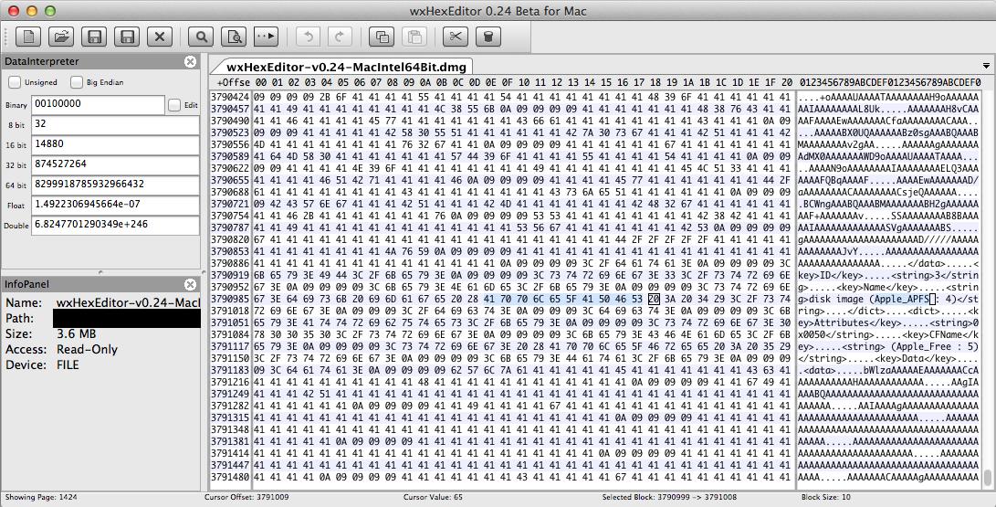 Mac OS X 10 8 5 won't open wxHexEditor-v0 24-MacIntel64Bit dmg image