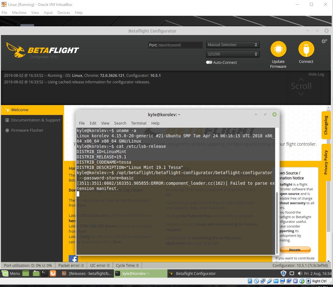 10 5 1 on Ubuntu 18 04: Not getting left side menu nor