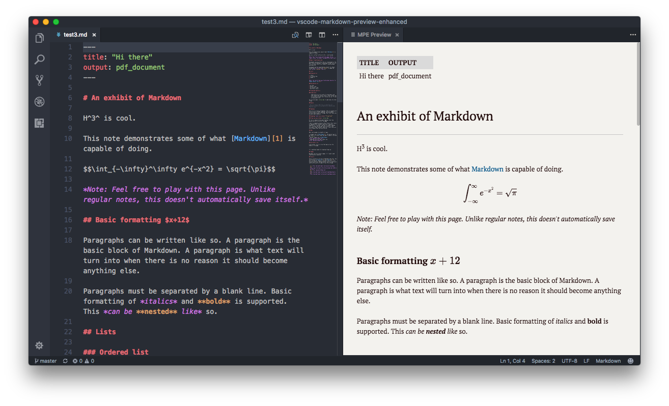Markdown Preview Enhanced - Visual Studio Marketplace