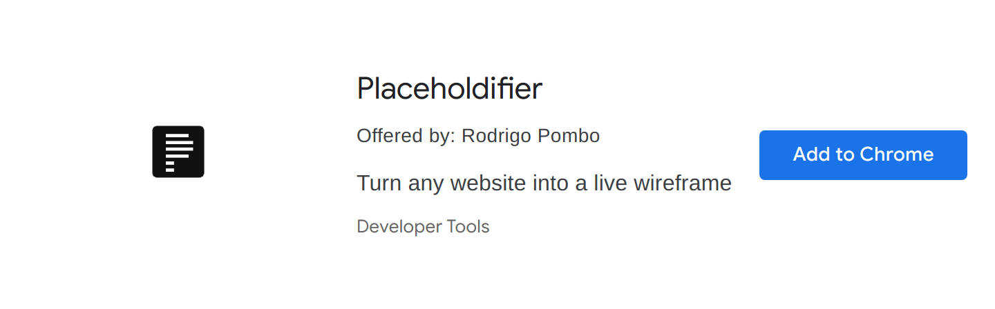 Placeholdifier Chrome Extension