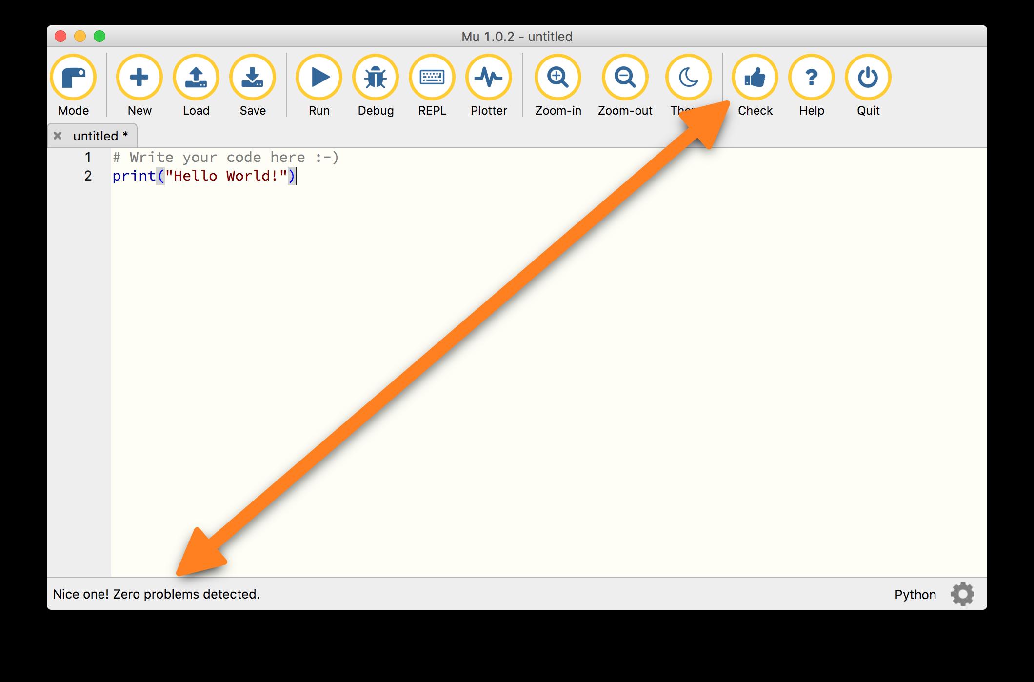 UI/UX | Check button vs  Positive feedback · Issue #762 · mu-editor