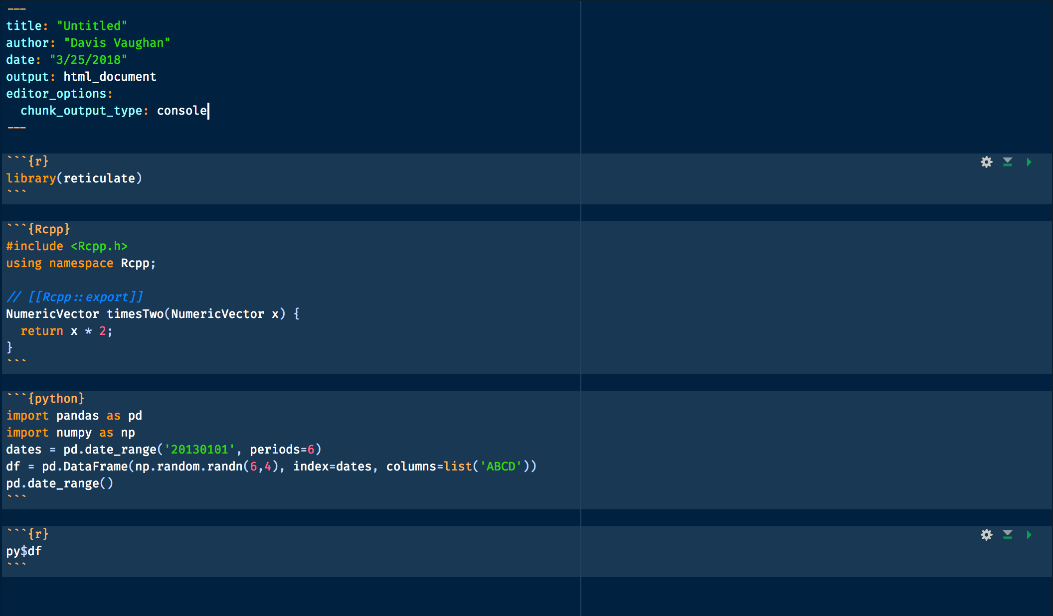 Changing `Chunk Output Inline` -> `Chunk Output in Console
