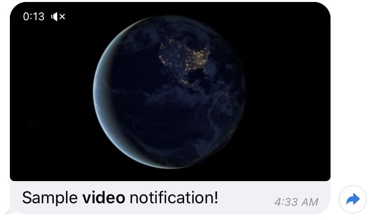 Laravel Telegram Video Notification Example