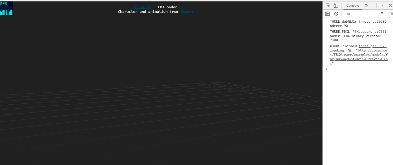 FBXLoader js is not loading the attached fbx & no error in console