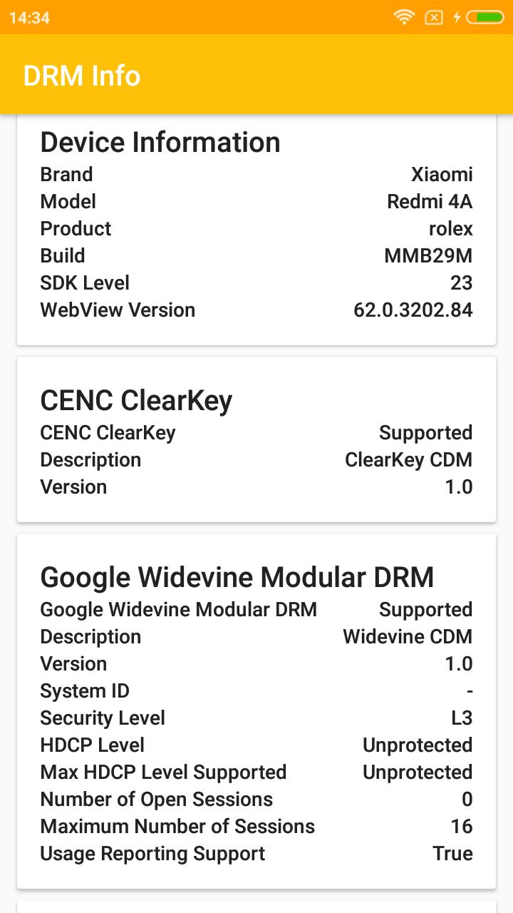 Failed to get provision request: DRM vendor-defined error