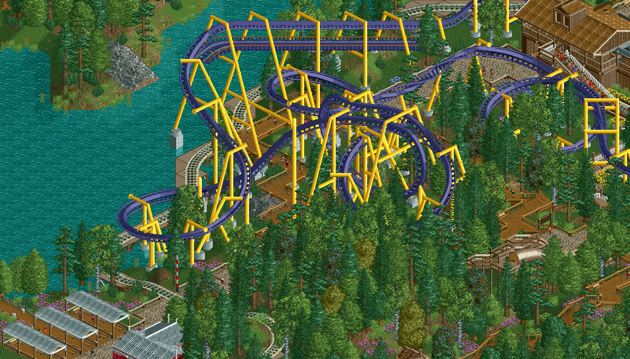 OpenRCT draws supports in places where vanilla wouldn't