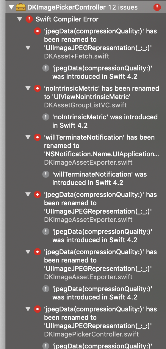 XCode 10 GM and Swift 4 2 fails to build · Issue #508