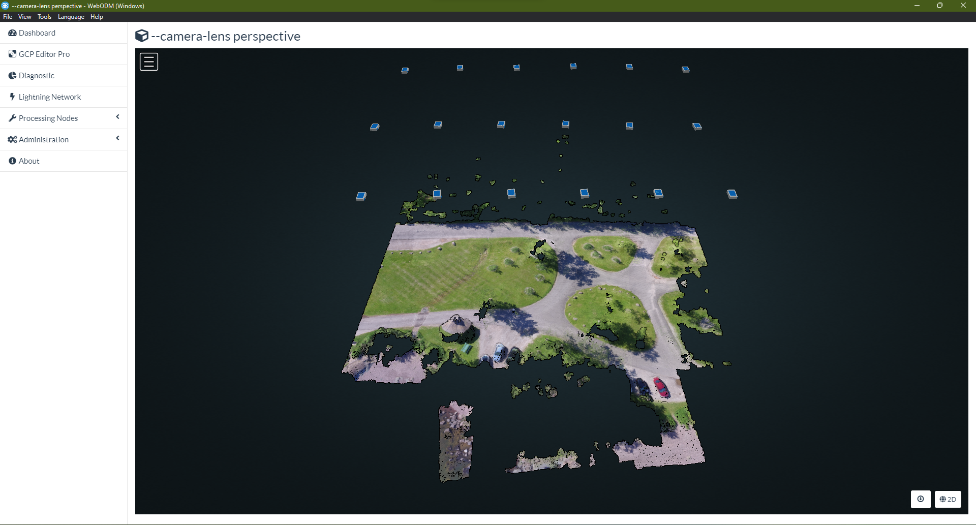 Rectilinear data rendered by ``perspective`` Camera Lens Model