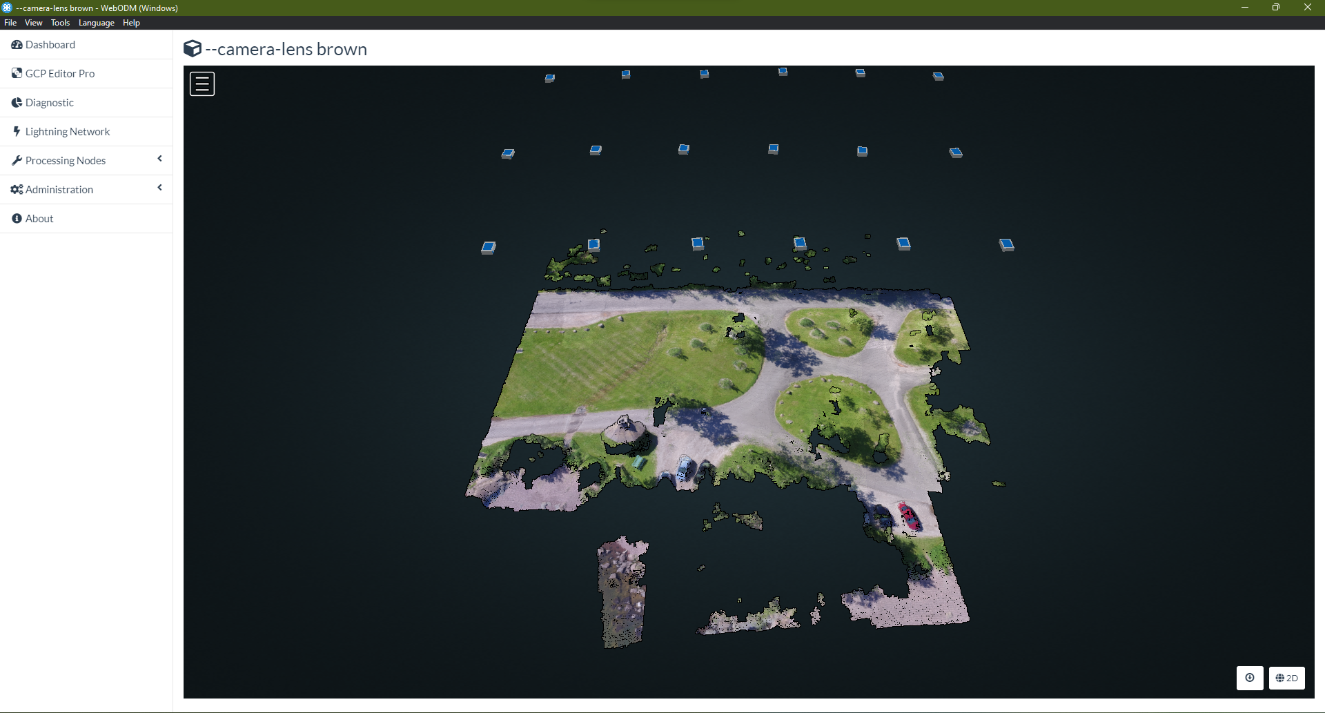 Rectilinear data rendered by ``brown`` Camera Lens Model
