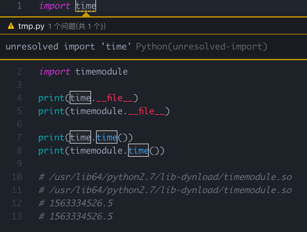 unresolved import 'time' · Issue #1345 · microsoft/python