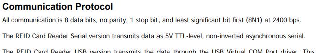 Parallax RFID serial port incorrect