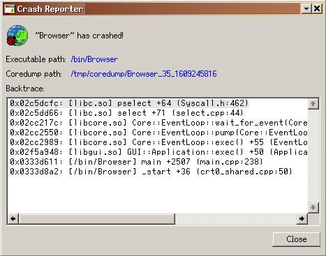 Screenshot of the initial version