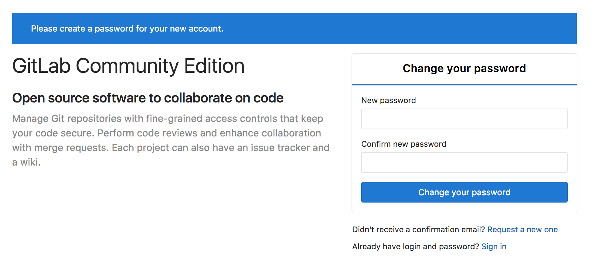 HELP: Can't login Can't create new password · Issue #1325