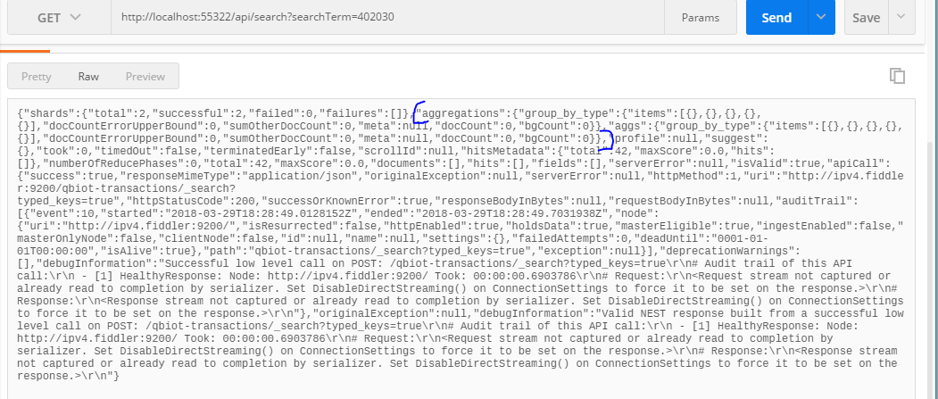 Aggregation result not serialized properly by client · Issue #3182