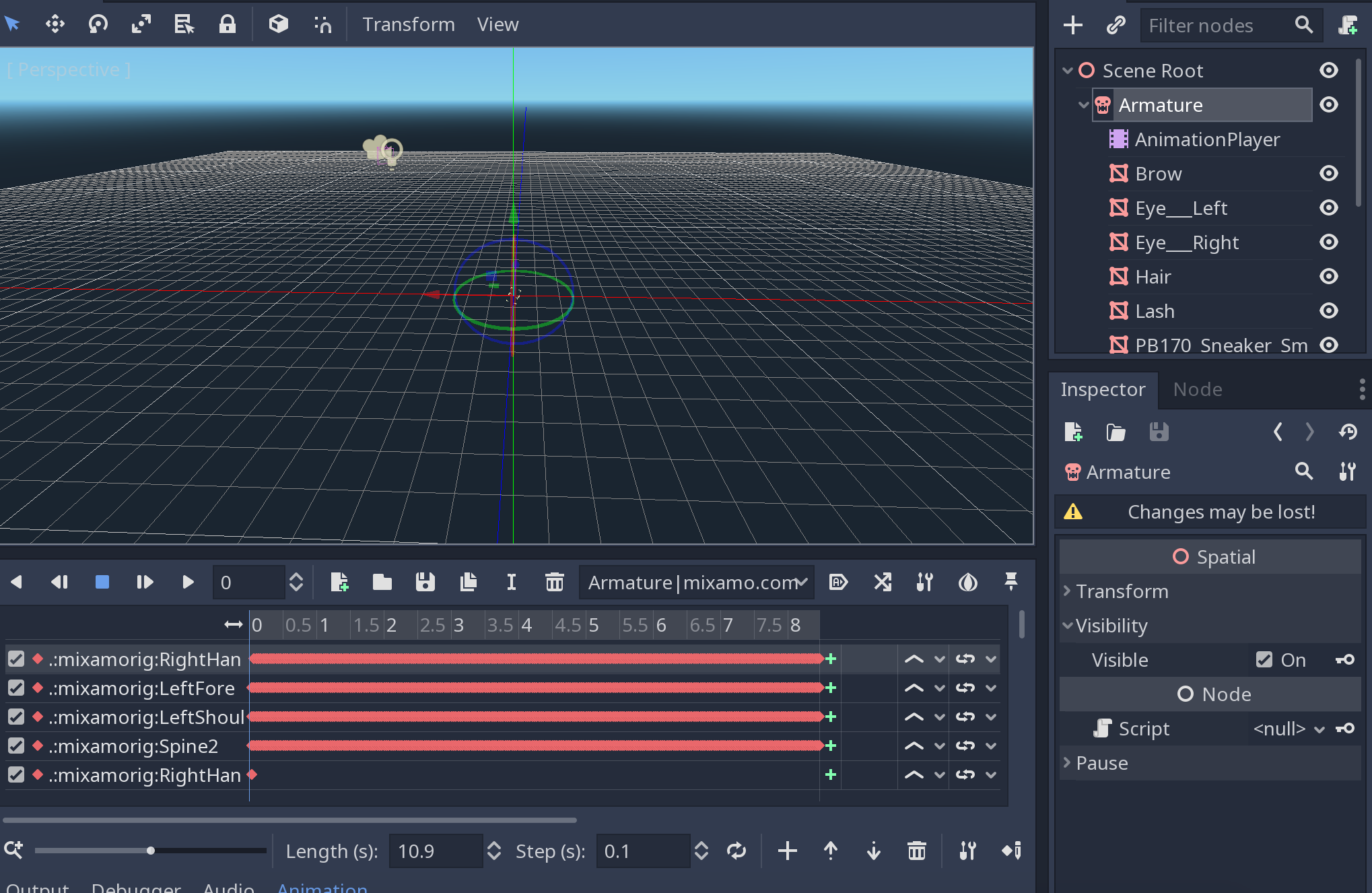 Invisible mesh after export to godot · Issue #43