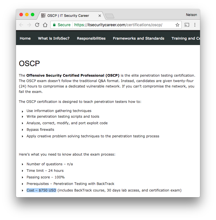 Offensive Security Certified Professional (OSCP) · Issue #21 · dwyl
