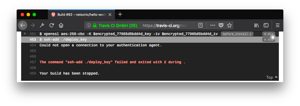 Add (encrypted) SSH Key to Travis-CI for (Continuous