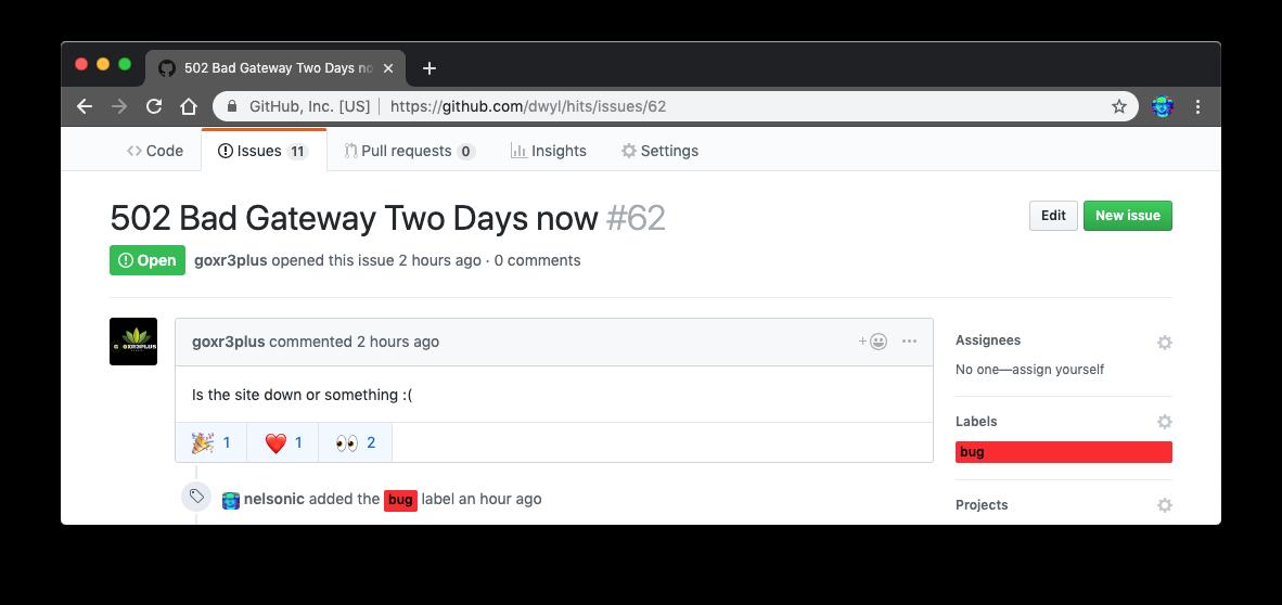 Hits? · Issue #7 · dwyl/product-roadmap · GitHub