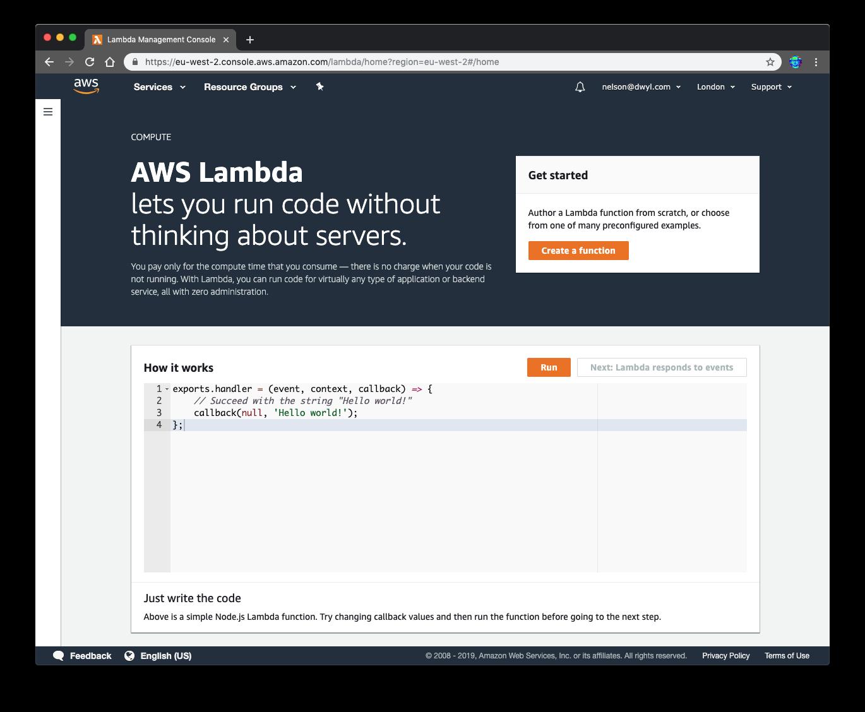 Update UI? · Issue #117 · dwyl/learn-aws-lambda · GitHub